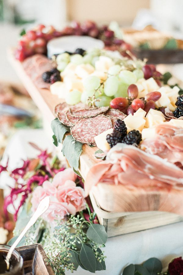 A hearty spread: http://www.stylemepretty.com/california-weddings/2016/01/21/an-event-coordinators-dreamy-organic-romantic-backyard-wedding/ | Photography: Daphne Mae - http://www.daphnemaephotography.com/
