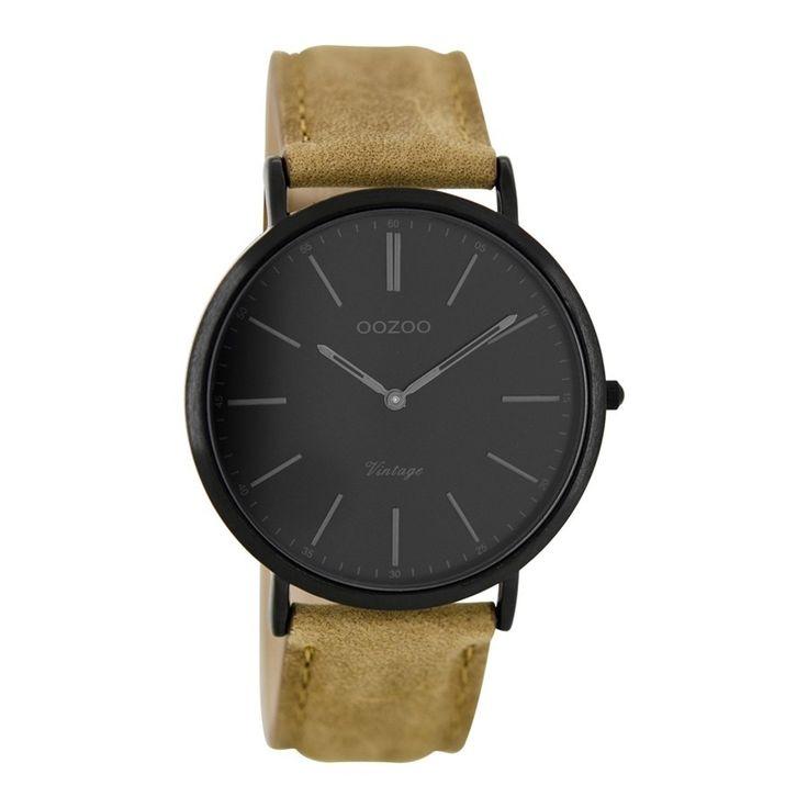 OOZOO Vintage Bruin/Zwart horloge C8154