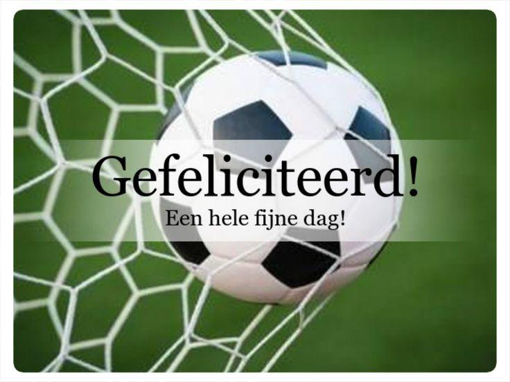 voetbal, gefeliciteerd