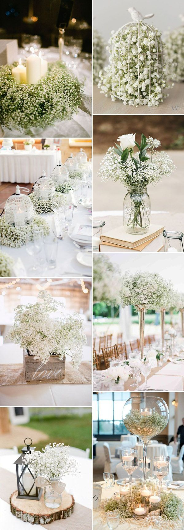 Diy wedding decorations vintage october 2018 Save Your Budget on Weddings with  Babyus Breath Ideas in