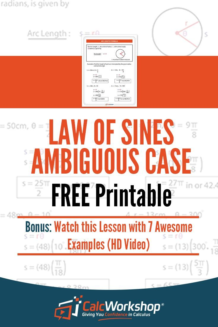 Ambiguous Case PDF for the Law of Sines which includes the formula, steps to solve using the FRUIT method, and 3 practice problems with solutions.  Great practice for students and teachers in High School Math classes like PreCalculus, Trig, Math Analysis, or even Algebra 2.  Grab your FREE Cheat Sheet Today!