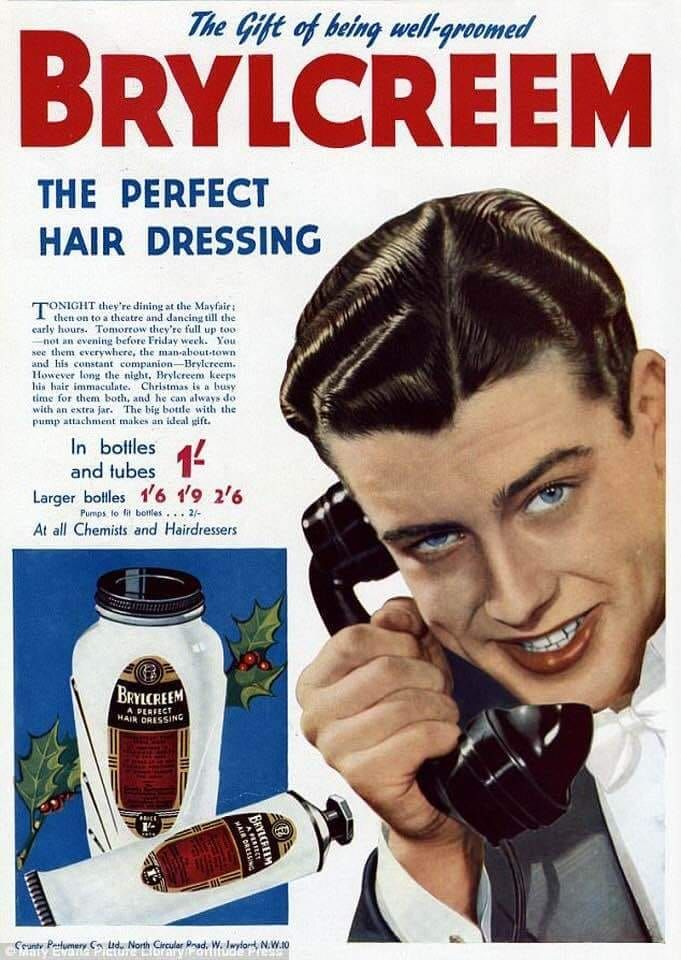 Brylcreem Old Advertising poster reproduction