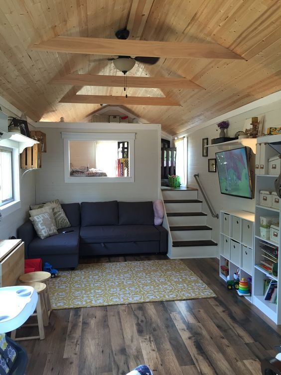 5041 best images about tiny house ideas on pinterest for Tiny home no loft