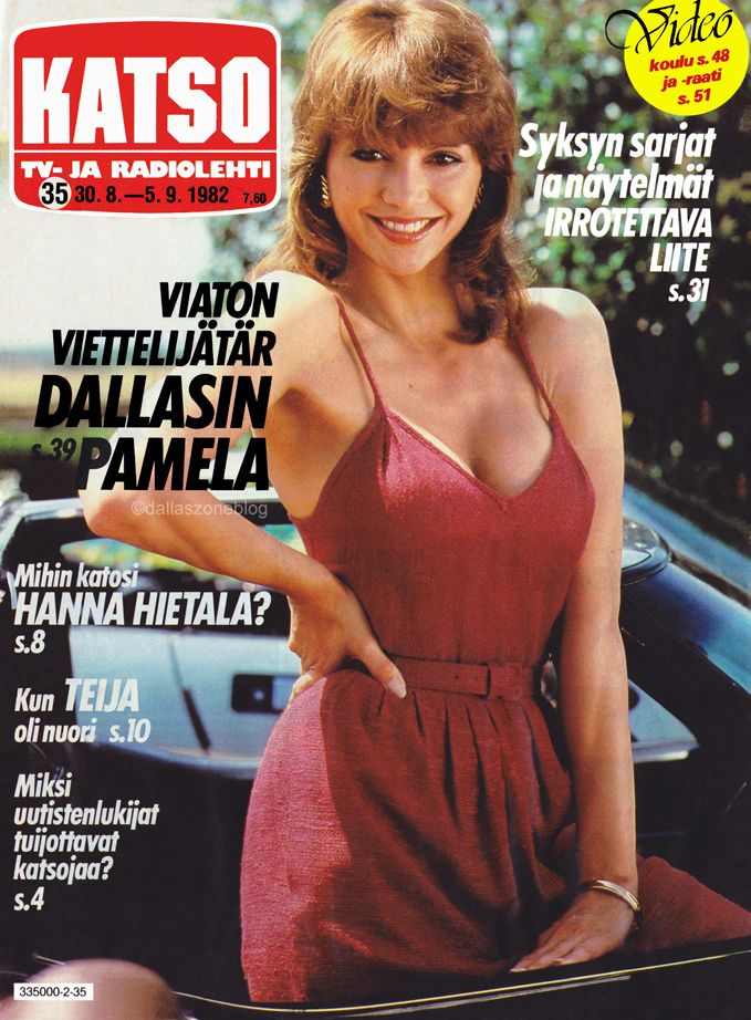 Red hot Victoria Principal on the cover of Katso 1982.