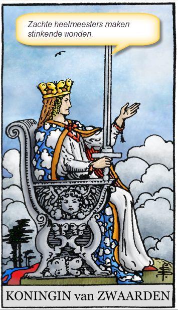 lijfspreuk van de tarotkaart koningin zwaarden