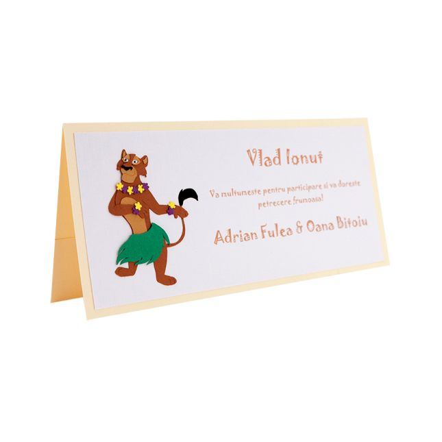 Handmade baby shower place card made by applying multiple layers of cardboard. #babyshower
