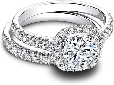 Jeff Cooper Pave Diamond Engagement Ring RP1608RD