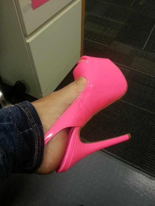 Hot pink heels! ❤ Pinned by Cindy Vermeulen. Please check out my other 'sexy' boards. X. #highheelslingerie #hothighheelslingerie