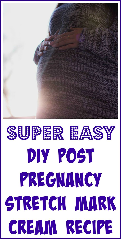 DIY post-pregnancy stretch mark cream with essential oils.