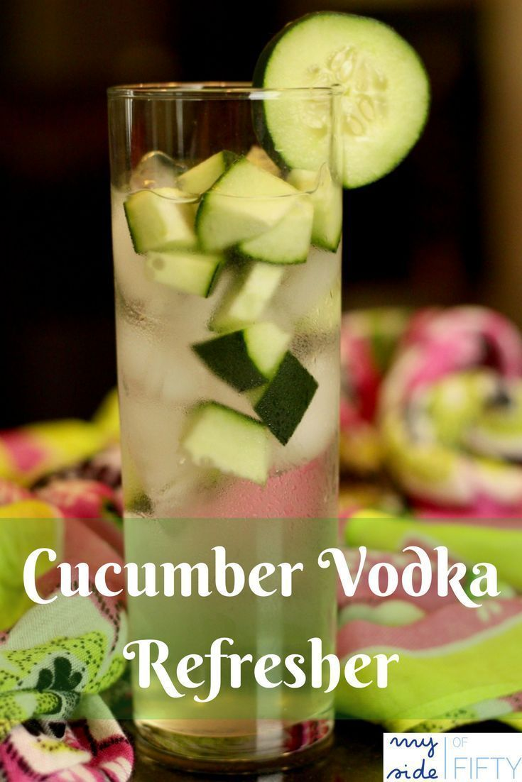 Cucumber Vodka Refresher Divine Recipes Cucumber Vodka