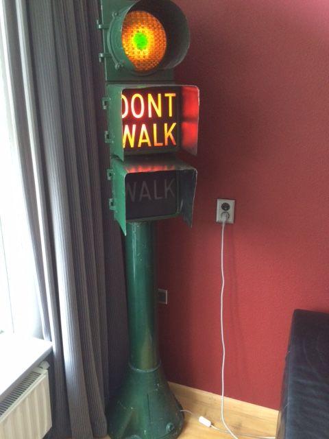 Walk dont walk stoplicht Amerikaans