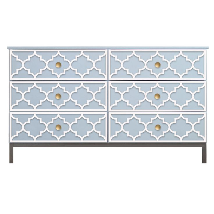 O'verlays Jasmine Kit for Ikea Tarva 6 Drawer Chest. A classic home decor that works with any style of decorating. An easy diy furniture makeover.