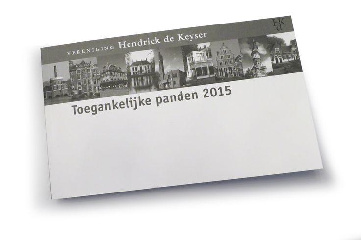 Book 'Open buildings 2015' for Hendrick de Keyser, the historic houses association of The Netherlands