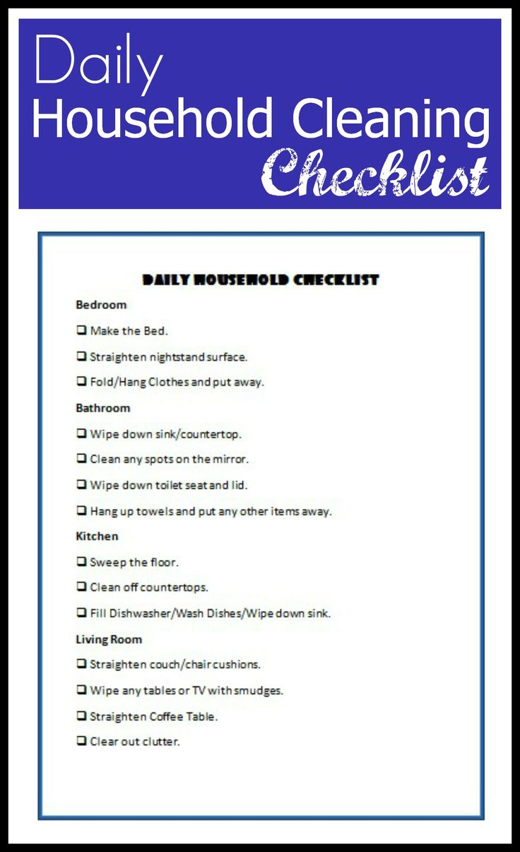 25 best ideas about daily cleaning checklist on pinterest
