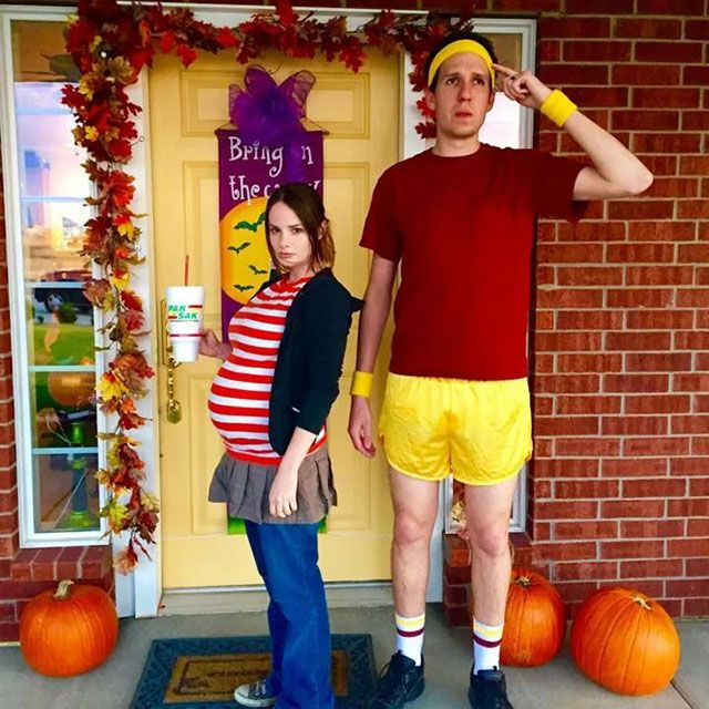 45 seriously awesome halloween costumes - Pregnant Halloween Couples Costumes