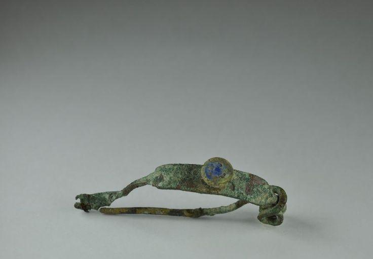 Roman enamelled brooch, roman enamelled bronze fibula, 1st-3d century A.D. Roman enamelled brooch, roman bronze enamelled  brooch, roman bronze enamelled fibula. Private collection
