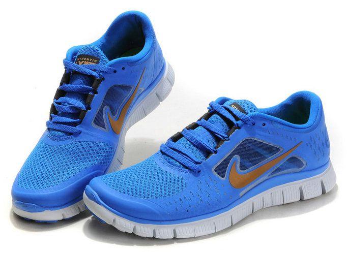 newest 18545 f8a24 3932f 1946a  best dpmqjxbi nike free run 3 blue gold men shoes ccd86 774e8