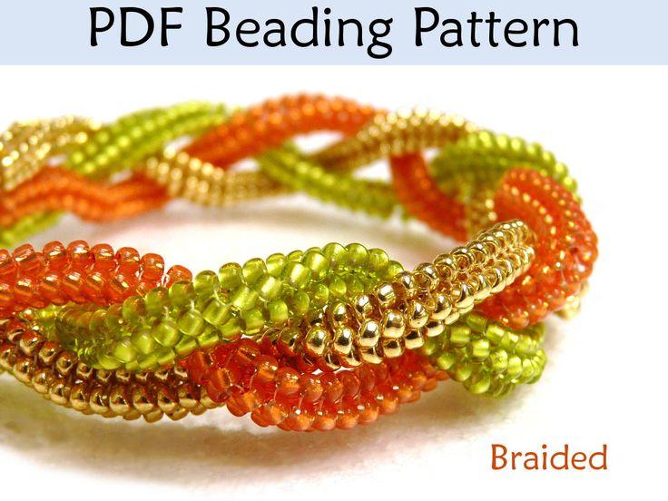 Bracelet Beading Pattern, Herringbone Stitch PDF Instructions, Jewerly
