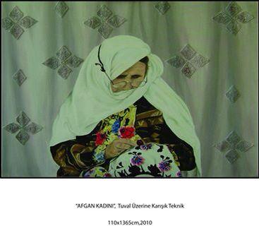 Yağlı boya,picture,afgan kadını,