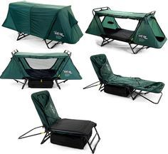 Tent Cot... Great for Boy Scouts when camping.  Easy to set up.  Sets up in less than 5 minutes.  Provides protection by keeping them off the ground from animals and bugs.  Gives them shelter from the rain and elements.  The storage bag gives them a place to keep their gear underneath.