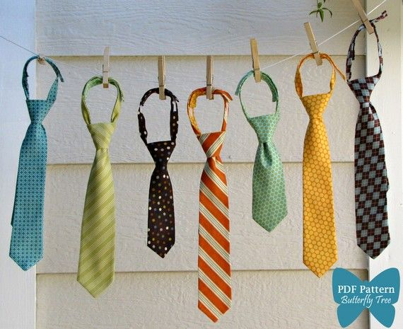 Boy's Tie Sewing Pattern - Classic and Reversible Styles - PDF. $5.95, via Etsy.