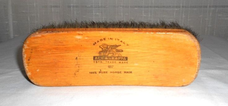 Vintage Acca Kappa 100% Horse Hair Shoe Care Brush #497 Made in Italy #AccaKappa