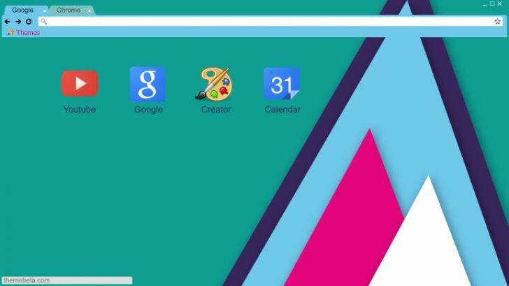 Flat Material Design Chrome Theme - ThemeBeta