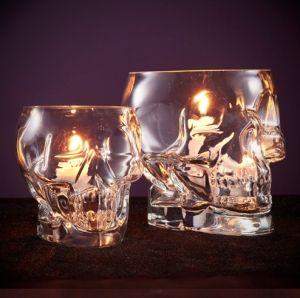 Glass Skull Votives by MissSweetC