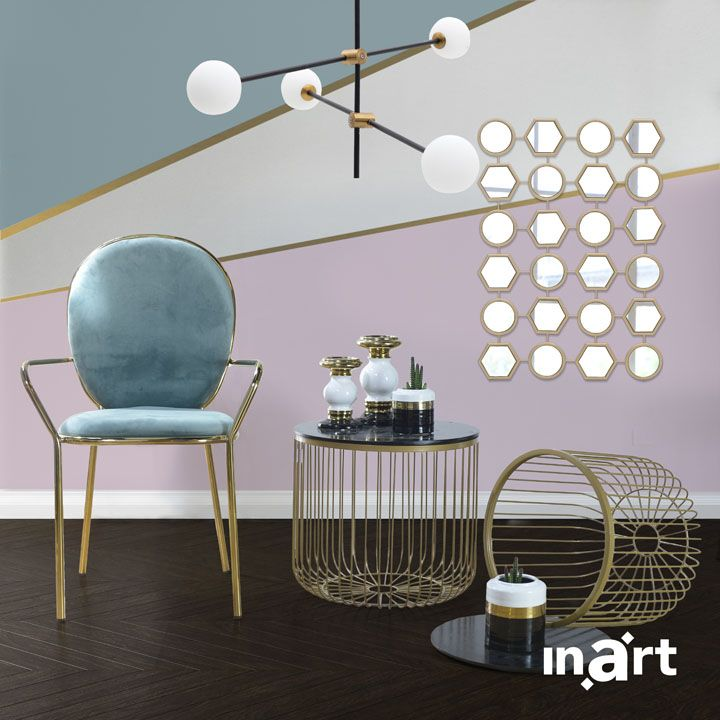 Luxury means details of gold carefully embracing modern-style furniture. It's called #inartLivingl