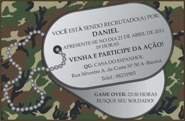 Festa :Tema Militar on Behance