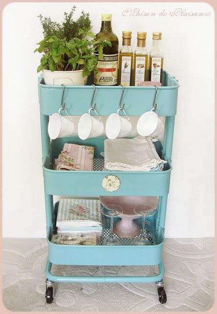30 fun and unique ways to use an Ikea Raskog cart                                                                                                                                                      More