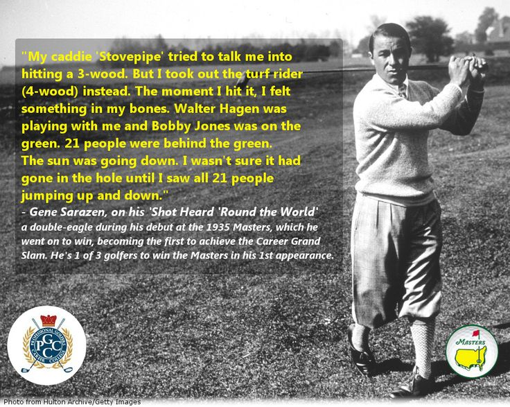 In 1935, Gene Sarazen made golf history at the Masters in