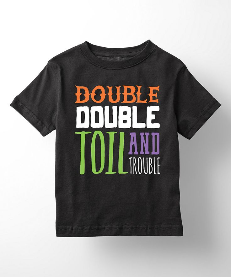 Black 'Double Double Toil and Trouble' Tee - Toddler & Kids