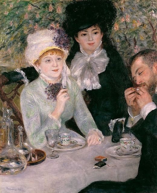The End of Lunch, 1879 ~ Pierre-Auguste Renoir ~ (French: 1841-1919)