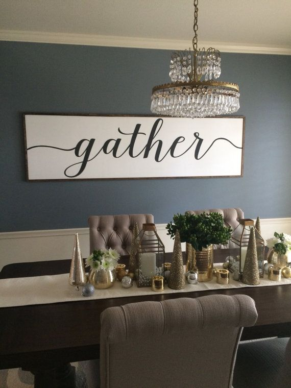 Sign With Quote: Gather Distressed Wood Sign in by BurmaBoutique