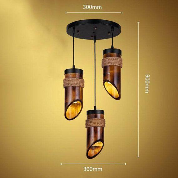Arturest Handmade Bamboo Ceiling Lighting American Country Etsy Bamboo Ceiling Hanging Light Fixtures Bamboo Lamp