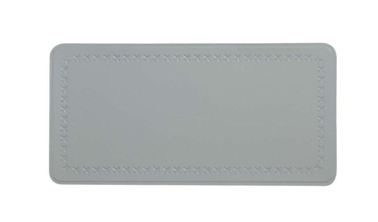 Este parche rectangular de tamaño grande tiene un diseño de punto alrededor del borde, perfecto para cubrir grandes desgarrones o áreas muy desgastadas en sofás, sillas y taburetes. #reparacuero #pielsintetica #tapiceria