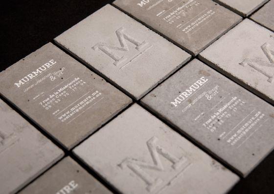 Concrete business cardsCards Design, Business Cards, De Visit, Carts De, Concrete Business, Graphics Design, Brand, French Design, Create Business