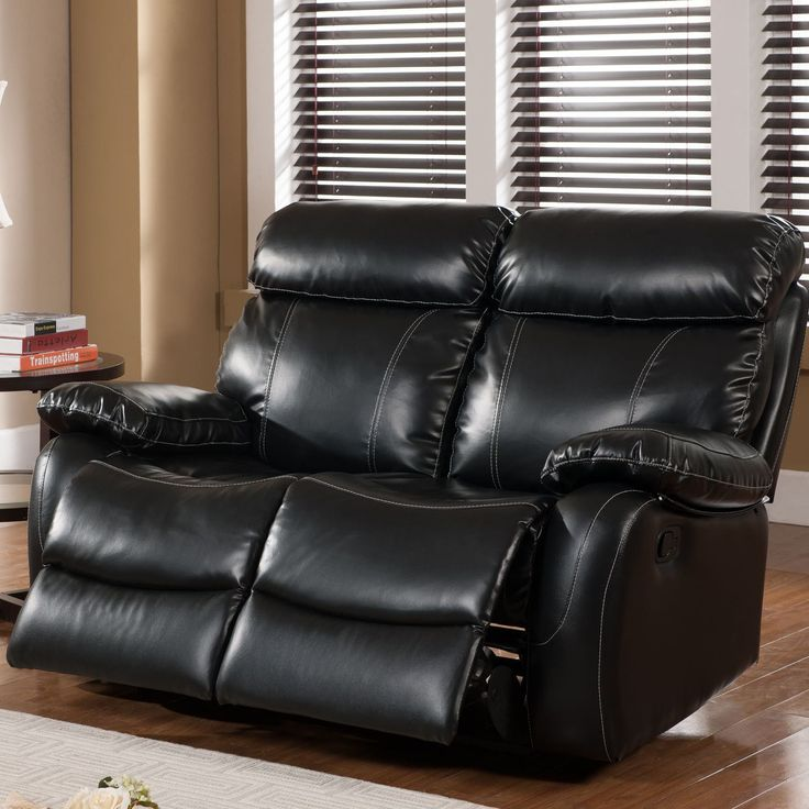 "Suzanne 61"" Leather Reclining Loveseat"