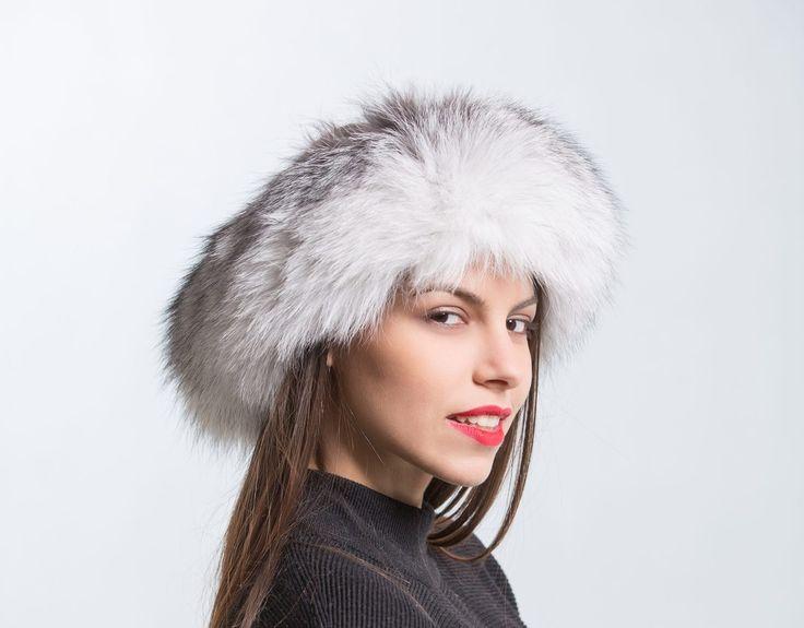 White Fur Headband     #white #fur #headband #winter #hat #furhat #fox #hat #haute #style #fashion