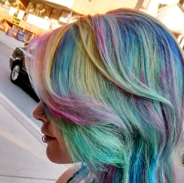Pastel #RainbowHair at its finest!  #KimberlyStylesHair #KimberlyStylesOggiSalon #YorkvilleHair #Yorkville #TorontoHair #TorontoSalon