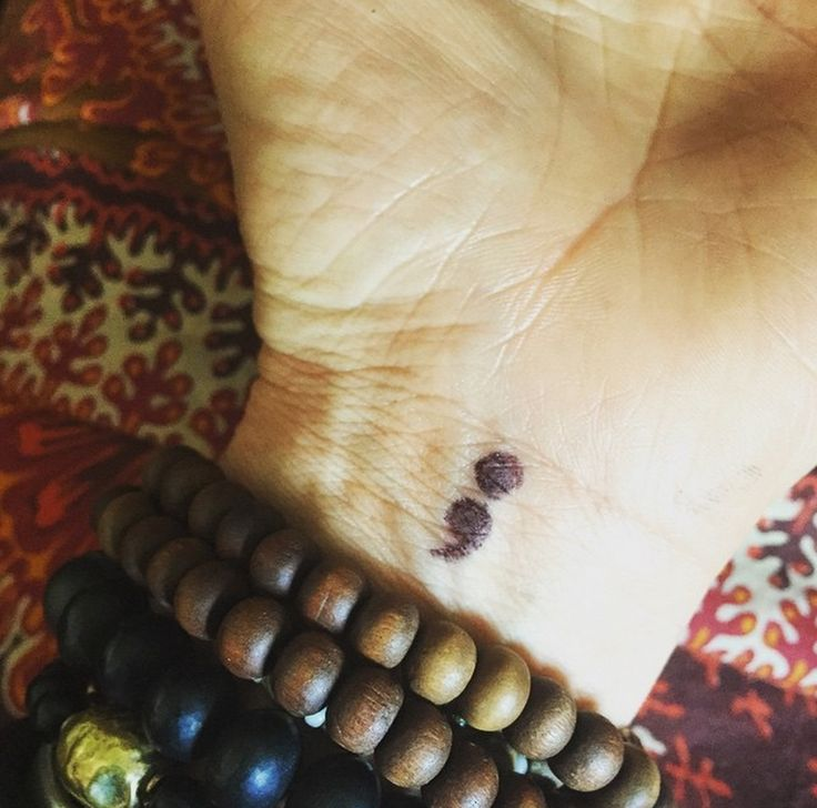 What Does A Semicolon Tattoo Mean? How The Semicolon Project Is Using The Symbol To Support People With Mental Illness — PHOTOS
