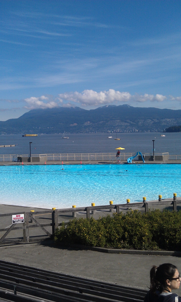Heated, salt water pool along Kitsalano Beach in Vancouver, Canada. It was so beautiful