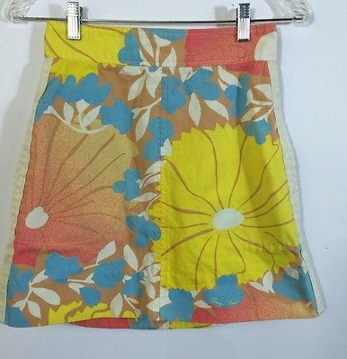 TRACY FEITH For Target Skirt Size 7 Hawaiian Floral Print Cotton Canvas S M  | eBay