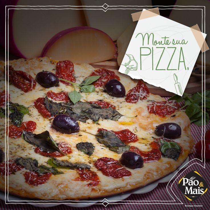 Pizza já é uma coisa maravilhosa, imagina quando você pode montar do jeito que você quiser!