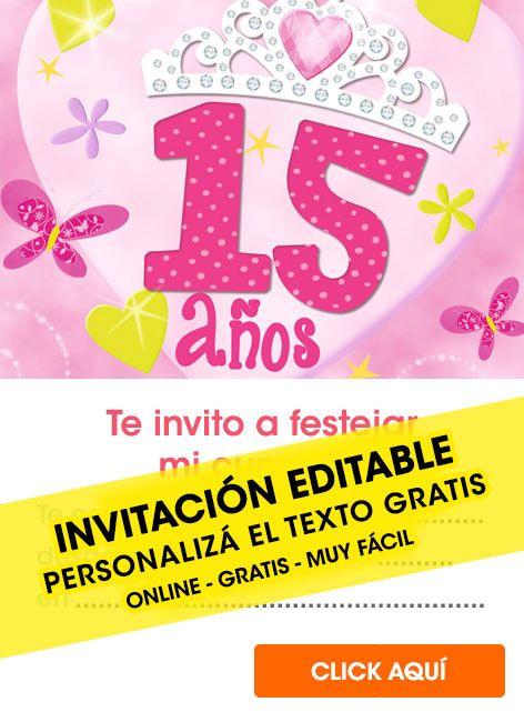 8e95dba9d2d7f 10 Tarjetas de cumpleaños de 15 AÑOS GRATIS para editar ...
