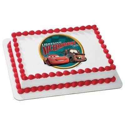 Cars Victory Lane Cake #Cars #LightningMcQueen #Mater #Birthday #Cake #Boy #Party