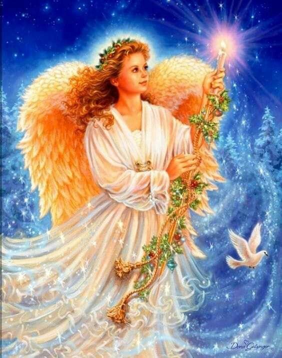 Анимацию, рождественские картинки ангелочки