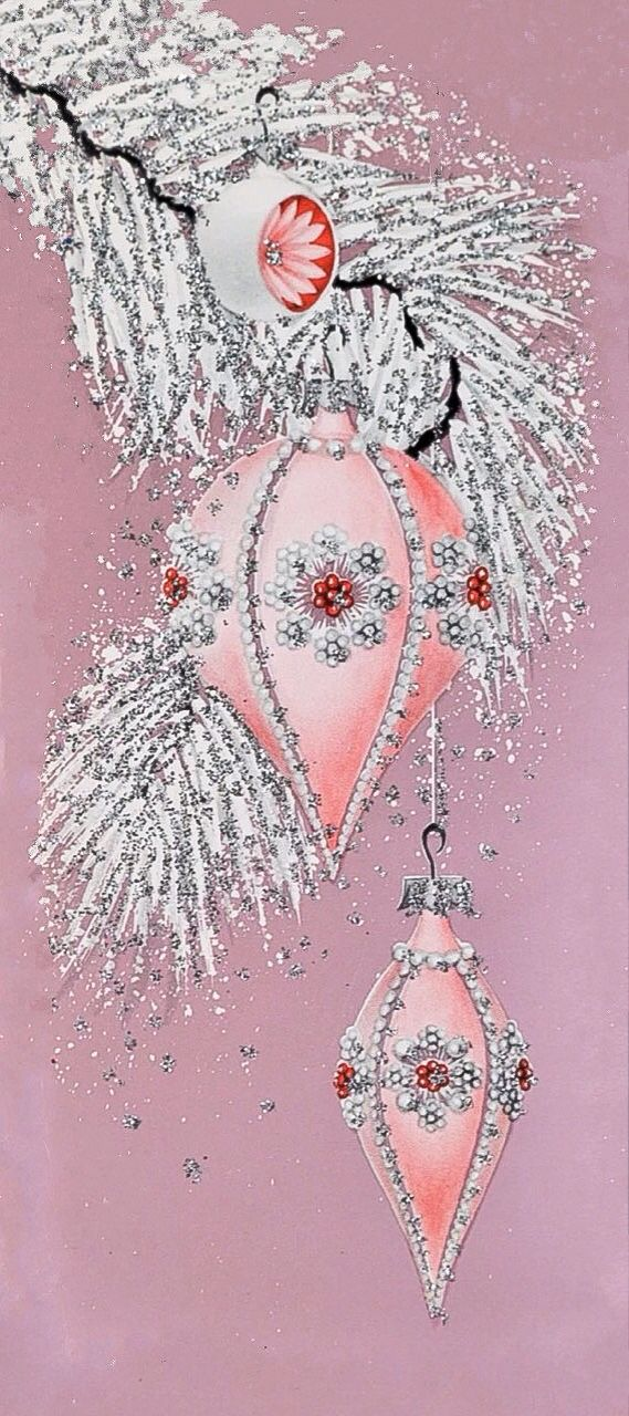 Pink jeweled ornament.