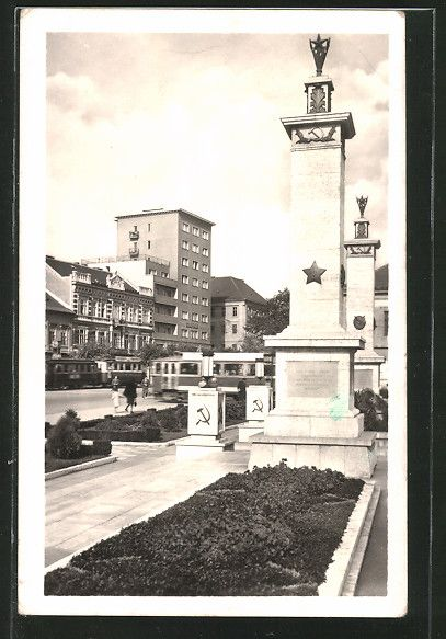 old postcard: AK Kosice, Pomnik CA